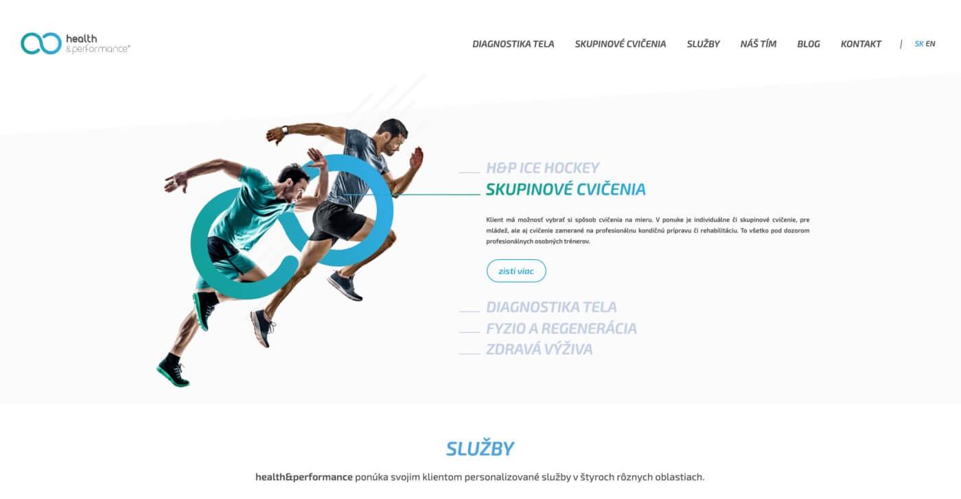 Webstránka health&performance